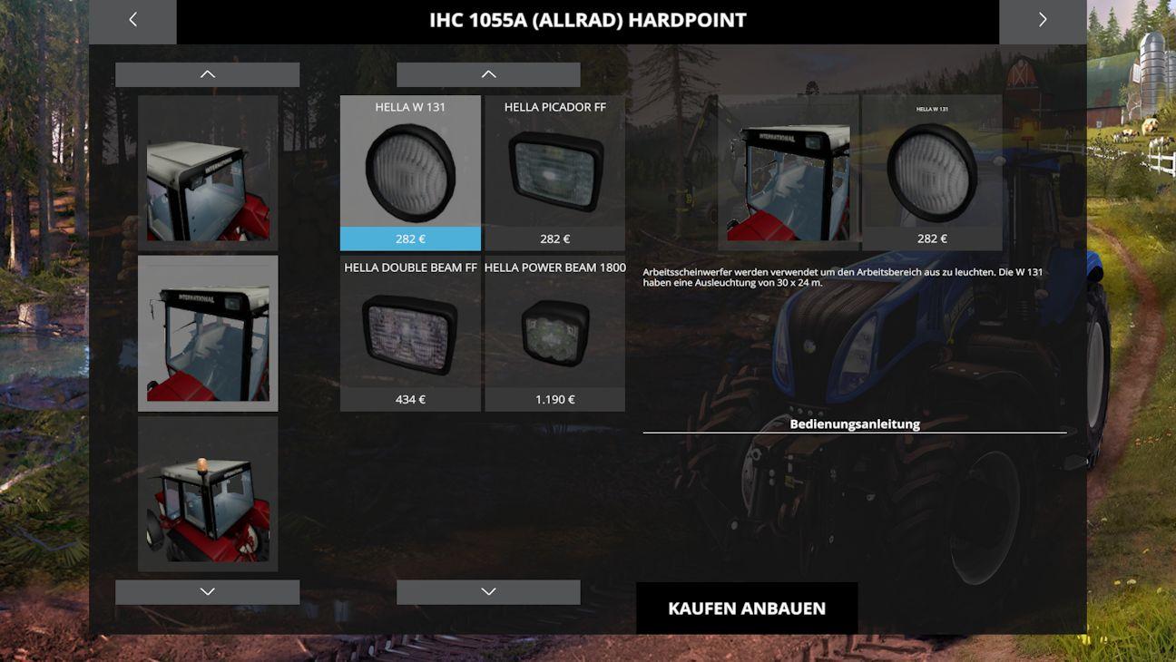 IHC 1055 HardPoint Kategorieen